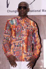 Hollywood star Wesley Snipes poses for a photo during a press conference for the 2019 Chungbuk International Martial Arts and Action Film Festival at a hotel in Seoul on August 28, 2019. The festival will open the next day in the cities Provinces of North Chungjuong and Cheongju for five days.