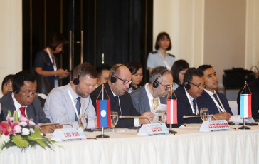 VIETNAM.- In the photo taken today October 9, 2019, in the city of Ha Long (Quang Ninh) the 13th General Director of the Customs Forum of the Asia-Europe Cooperation Forum (ASEM) was inaugurated. The conference takes place on 2 days from October 9 to 10, 2019, organized by the General Department of Customs (Ministry of Finance), with the participation of 53 delegations of General Directors, High Commissioners of Customs agencies of the member countries of ASEM, the Secretary General of the World Customs Organization (WCO), the European Union and representatives of the embassies of ASEM member countries in Vietnam.